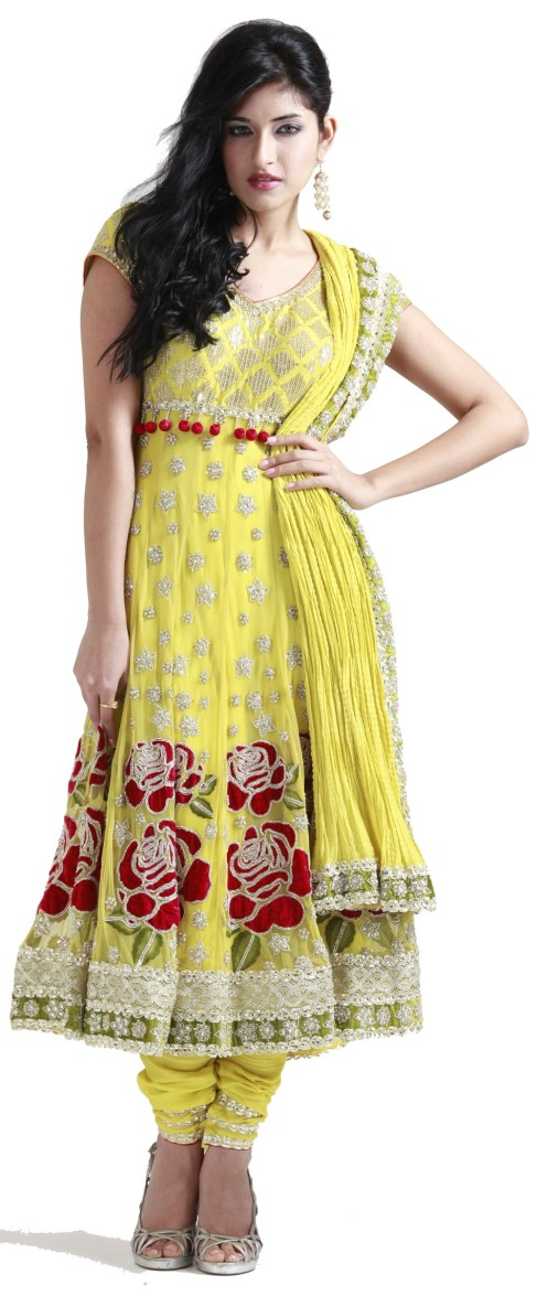 Indian designer Churidar suits