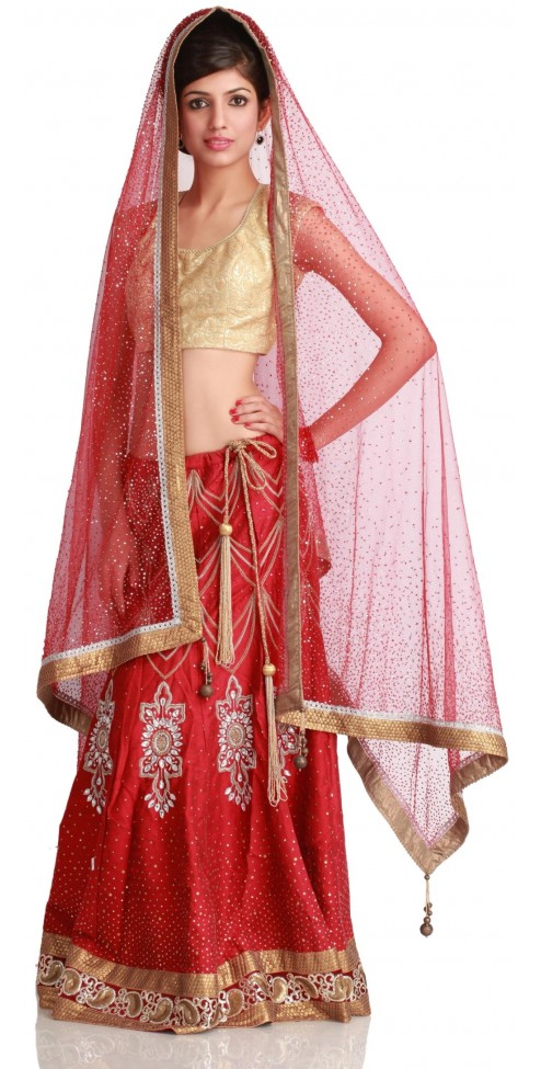 Traditional red Indian Bridal lehenga 2012