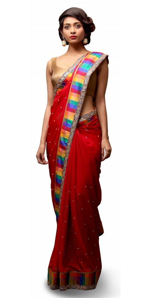 Indian Designer Chiffon Sarees