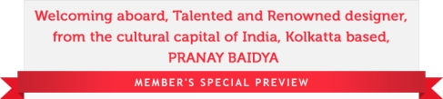Pranay Baidya Indian Designer Wear Collection @ ANGARKH