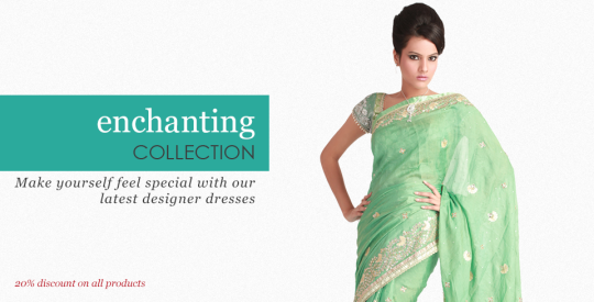 20% Off on Indian Designer Clothes & Jewelry