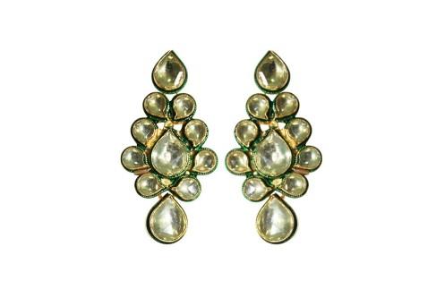 Golden Dream Designer Kundan Earrings On Sale