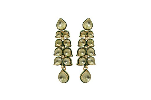 Attractive Golden Princess Kundan Earrings