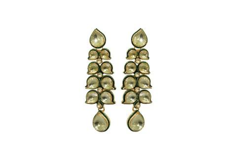 Attractive Golden Princess Kundan Earrings