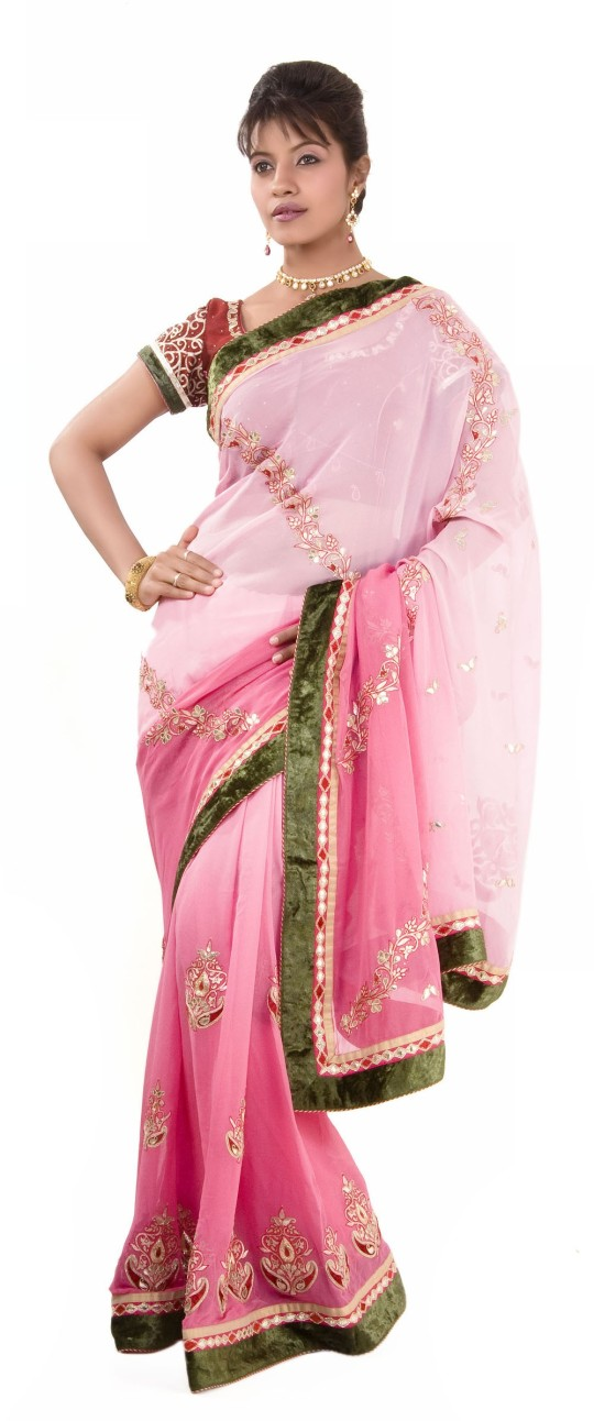 Buy Online Indian Designer Rose Pink Saree