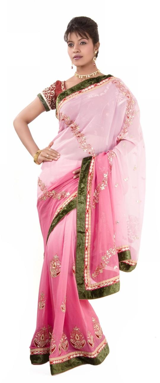 Buy Online Indian Designer Rose Pink Saree
