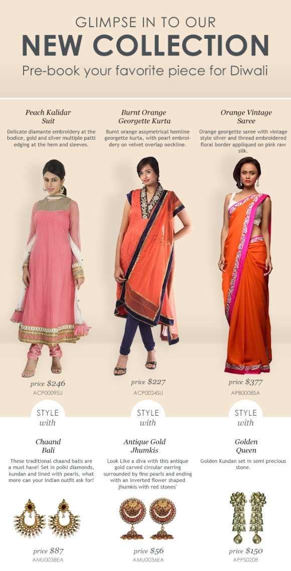 Indian Designer Clothes & Jewelry Collection - Diwali Special