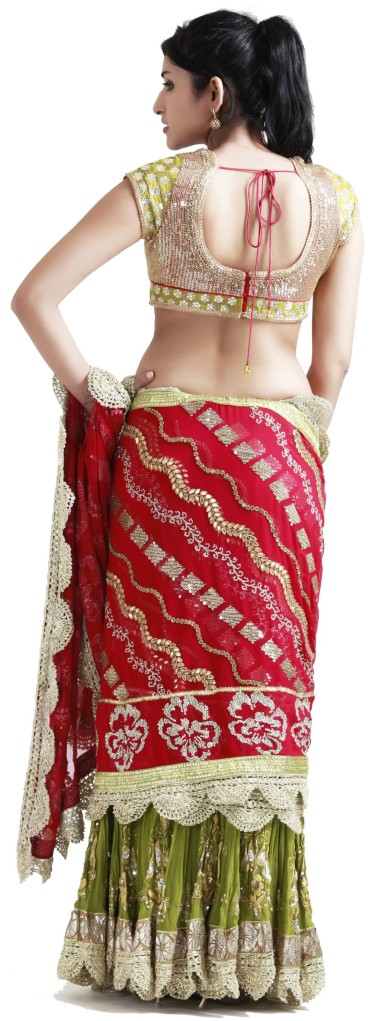 Buy Indian Designer Pink Stitched Sarees Collection Online at Angarkh